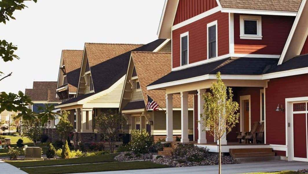 Amazing Siding Homes all in a Row